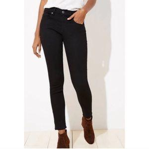 Ann Taylor LOFT Black Skinny Ankle Jeans Sz 26/2
